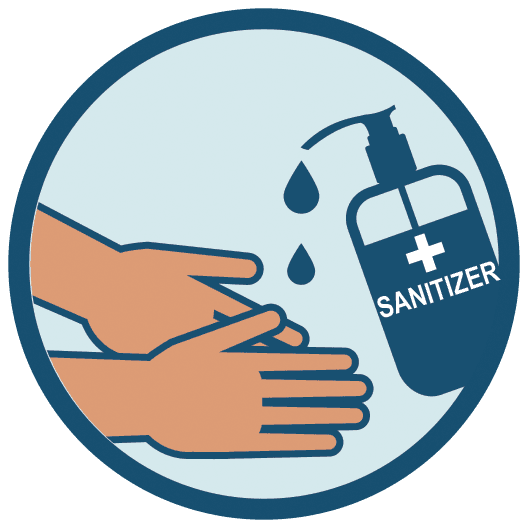 Sanitize your hands