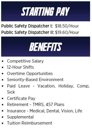 Chart with benefit and salary information